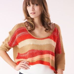 NWT Free People 80s Sweater Cropped Striped Small